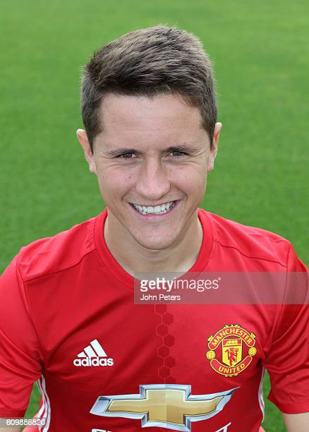 Ander Herrera of Manchester United poses for a portrait at the Manchester United Official Photocall on September 19 2016 in Manchester England