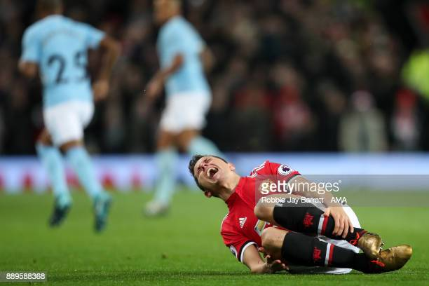 Ander Herrera of Manchester United reacts during the Premier League match between Manchester United and Manchester City at Old Trafford on December...