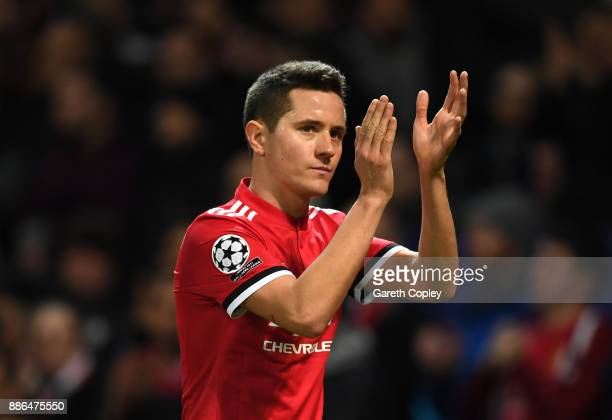 Ander Herrera of Manchester United reacts during the UEFA Champions League group A match between Manchester United and CSKA Moskva at Old Trafford on...