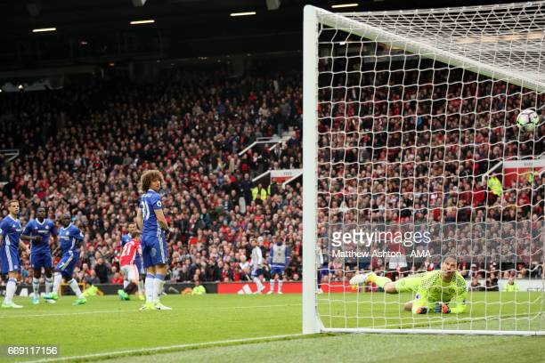 Ander Herrera of Manchester United scores the second goal to make the score 20 during the Premier League match between Manchester United and Chelsea...