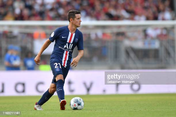 Ander Herrera of Paris plays the ball during the pre-season friendly match between 1. FC Nuernberg and Paris Saint-German at Max-Morlock-Stadion on...