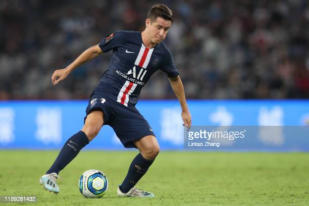 Ander Herrera of Paris Saint-Germain competes the ball during to the 2019 Trophee des Champions between Paris saint-Germain and Stade Rennais FC at...