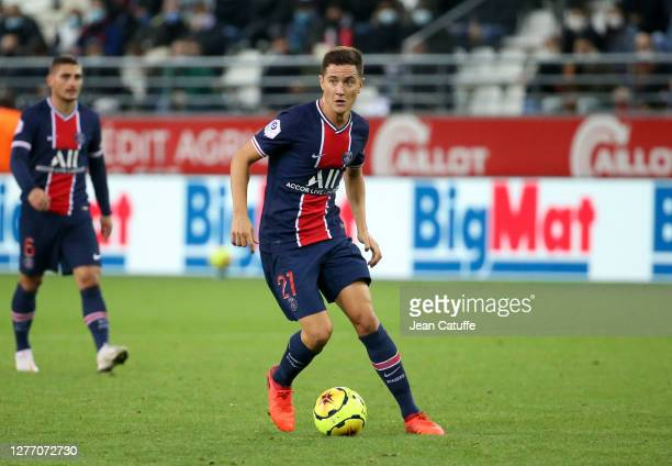 Ander Herrera of PSG during the Ligue 1 match between Stade de Reims and Paris Saint-Germain at Stade Auguste Delaune on September 27, 2020 in Reims,...