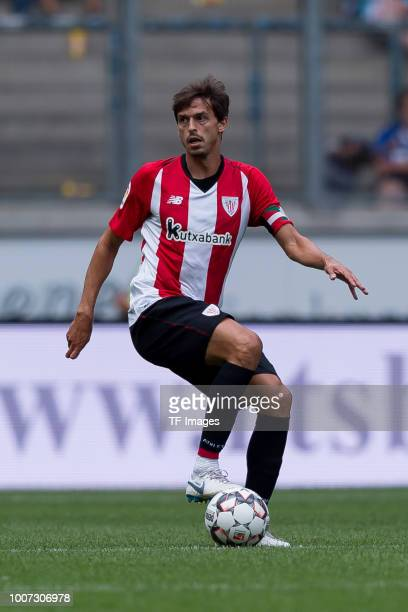 Ander Iturraspe of Athletic Bilbao controls the ball during the Cup der Traditionen match between MSV Duisburg and Athletic Bilbaoon July 28 2018 in...