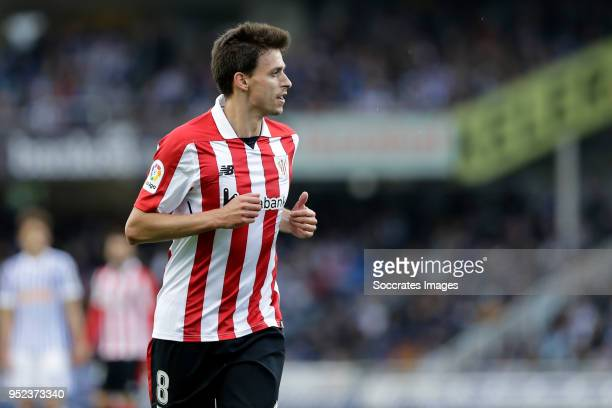 Ander Iturraspe of Athletic Bilbao during the La Liga Santander match between Real Sociedad v Athletic de Bilbao at the Estadio Anoeta on April 28...