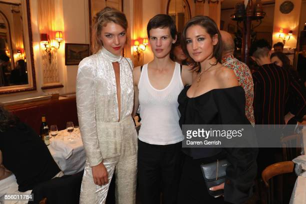 Andera Mary Marshal, Saskia De Brauw and Arizona Muse attend a dinner in Paris to celebrate Another Magazine A/W17 hosted by Vivienne Westwood,...