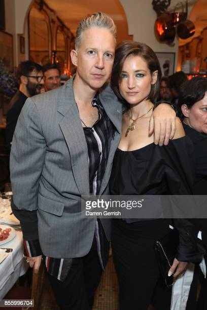 Andera Mary Marshall and Jefferson Hack attend a dinner in Paris to celebrate Another Magazine A/W17 hosted by Vivienne Westwood, Andreas Kronthaler,...