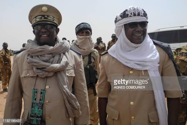 Anderamboukane prefect Moussa Diallo and Menaka region governor Daouda Maiga visit the military base of Malian Army forces in Anderamboukane Menaka...