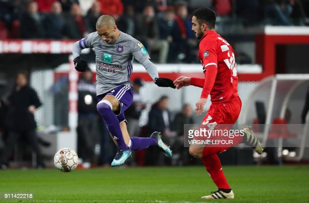 Anderlecht's Sofiane Hanni controls the ball on his way to score a goal during the Belgium Jupiler Pro League football match between Standard de...