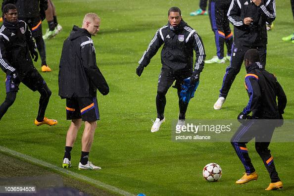 Anderlecht's Youri Tielemans And His Teammates In Action