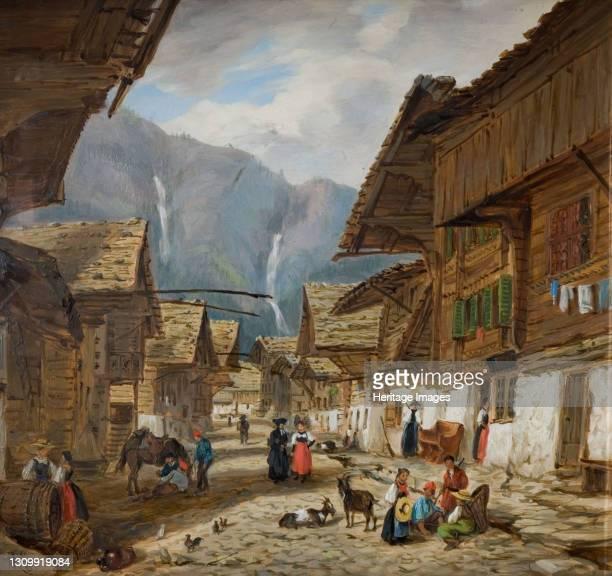 Andermatt, Switzerland, 1880. Artist Hopkins Horsley Hobday Horsley. .