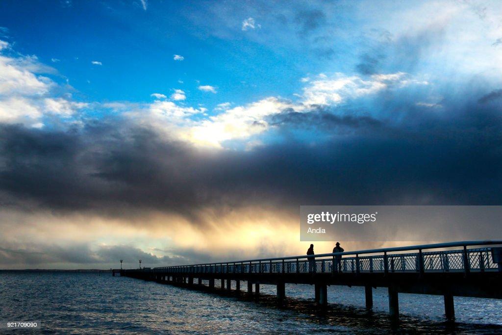 Andernos-les-Bains, the pier. : News Photo