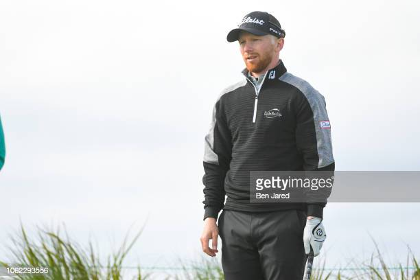 Anders Albertson stands on the sixth hole tee box during the first round of The RSM Classic at the Sea Island Resort Seaside Course on November 15...