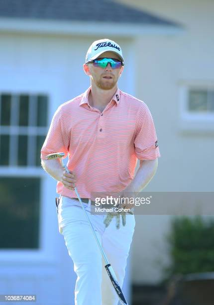 Anders Albertson walks on the seventh green during first round of the Webcom Tour Championship held at Atlantic Beach Country Club on September 20...