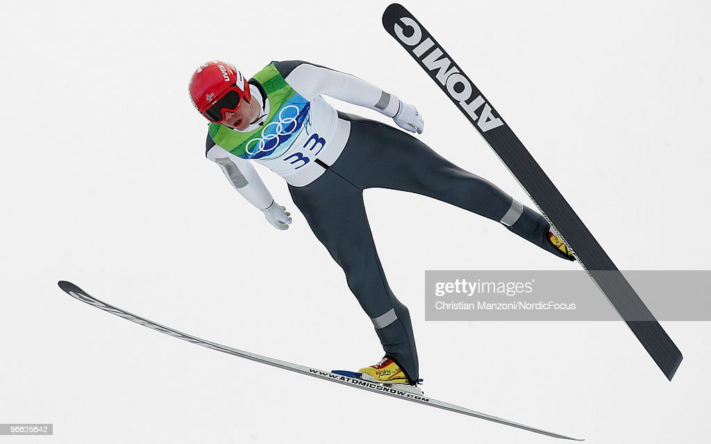 Anders Bardal of Norway competes during the Ski Jumping Normal Hill Individual Qualification Round at the Olympic Winter Games Vancouver 2010 ski jumping on February 12, 2010 in Whistler, Canada.