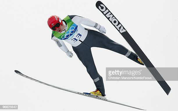 Anders Bardal of Norway competes during the Ski Jumping Normal Hill Individual Qualification Round at the Olympic Winter Games Vancouver 2010 ski...