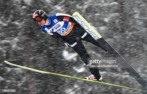 Anders Bardal of Norway competes in the Men's Ski Jumping HS137 during day one of the FIS World Cup Ski Jumping on December 17 2011 in Engelberg...