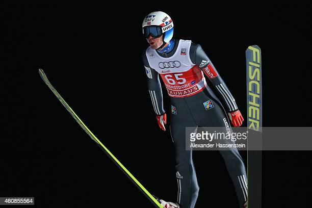 Anders Bardal of Norway competes on day 1 of the Four Hills Tournament Ski Jumping event at SchattenbergSchanze Erdinger Arena on December 27 2014 in...