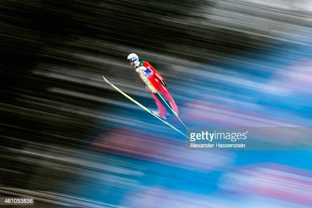 Anders Bardal of Norway competes on day 7 of the Four Hills Tournament Ski Jumping event at PaulAusserleitnerSchanze SeppBradlStadion on January 5...