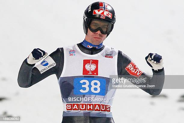 Anders Bardal of Norway during the FIS Ski Jumping World Cup Vierschanzentournee on January 06 2013 in Bischofshofen Austria