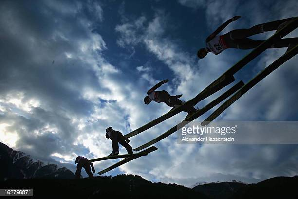 Anders Bardal of Norway in action during the Men's Ski Jumping HS134 Individual Qualification at the FIS Nordic World Ski Championshipson February 27...