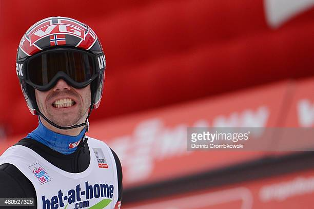 Anders Bardal of Norway reacts on day 2 of the Four Hills Tournament event at Bergisel on January 4 2014 in Innsbruck Austria