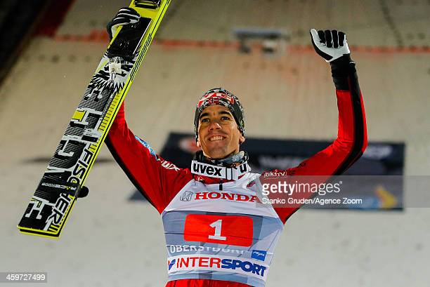 Anders Bardal of Norway takes 2nd place during the FIS Ski Jumping World Cup Vierschanzentournee on December 29 2013 in Oberstdorf Germany