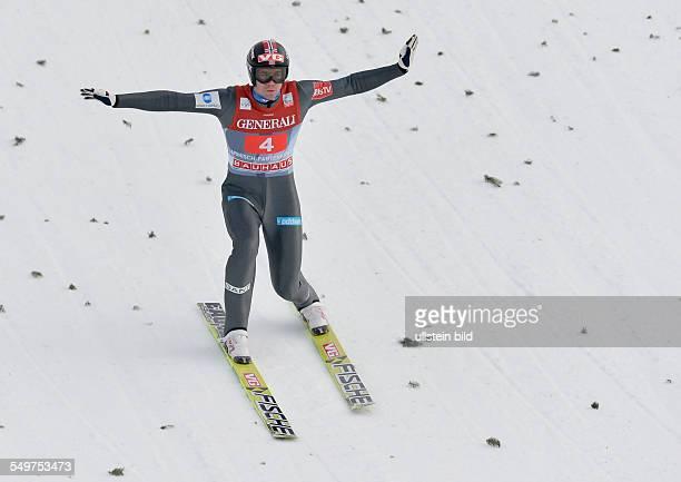 Anders Bardal waehrend dem FIS Skispringen Weltcup bei der 61 Vierschanzentournee am 1 Januar 2013 in Garmisch Partenkrichen