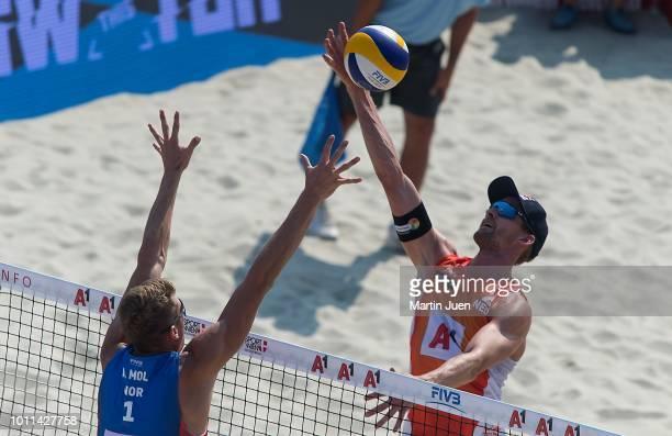 Anders Berntsen Mol of Norway and Robert Meeuwsen of the Netherlands competing during semi final match between Anders Berntsen Mol of Norway and...