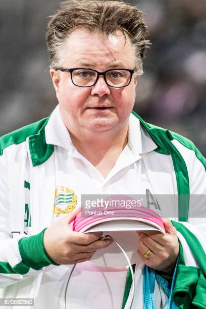 Anders Bitén equipment manager of Hammarby IF during the Allsvenskan match between Hammarby IF and Halmstad BK at Tele2 Arena on November 5 2017 in...