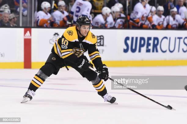 Anders Bjork of the Boston Bruins against the New York Islanders at the TD Garden on December 9 2017 in Boston Massachusetts