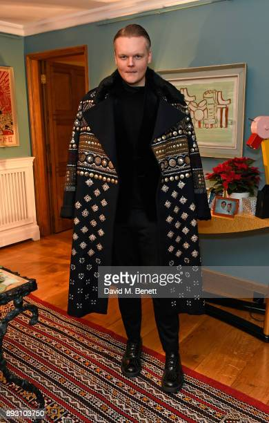 Anders Christian Madsen attends SEMAINE x SABINE GETTY Christmas cocktail party on December 14 2017 in London England