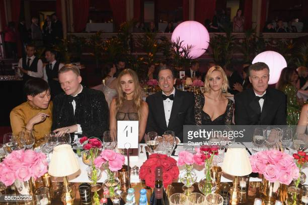 Anders Christian Madsen Lady Amelia Windsor Anja Rubik and guests during The Fashion Awards 2017 in partnership with Swarovski at Royal Albert Hall...