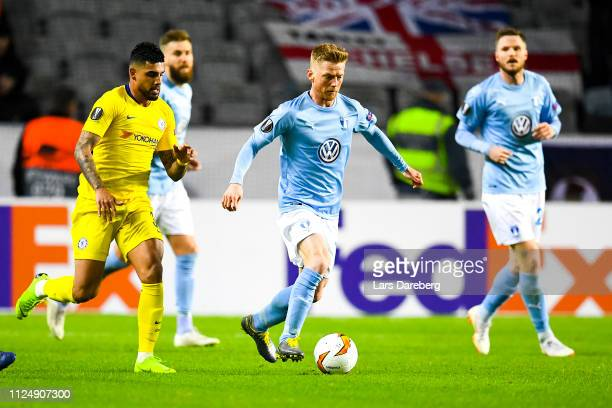 Anders Christiansen of Malmo FF during the UEFA Europa League Round of 32 First Leg match between Malmo FF and Chelsea at Malmoe Stadion on February...