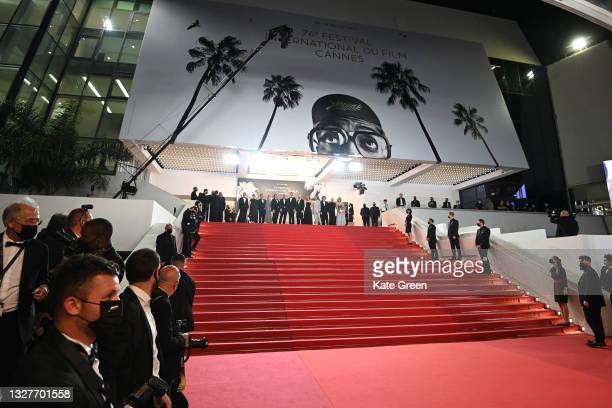 "Anders Danielsen Lie, Director Joachim Trier, Renate Reinsve, Herbert Nordrum and Eskil Vogt with the cast and crew attend the ""Verdens Verste..."