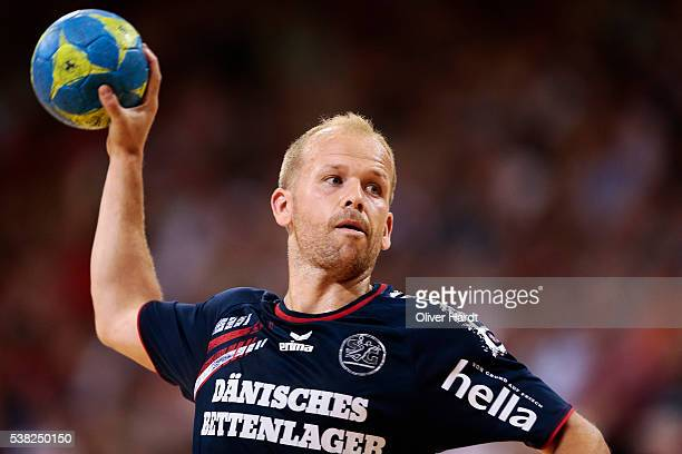 Anders Eggert of Flensburg in action during the bundesliga match between SG Flensburg and Bergischer HC at FlensArena on June 5 2016 in Flensburg...