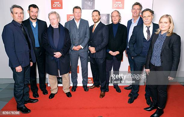 Anders Engstram Tim Bricknell Ridley Scott Steven Knight Tom Hardy Edward Hardy Dean Baker Kristoffer Nyholm and Kate Crowe attend the UK Premiere of...