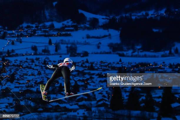Anders Fannemel of Norway in action during the FIS Nordic World Cup Four Hills Tournament on December 30 2017 in Oberstdorf Germany