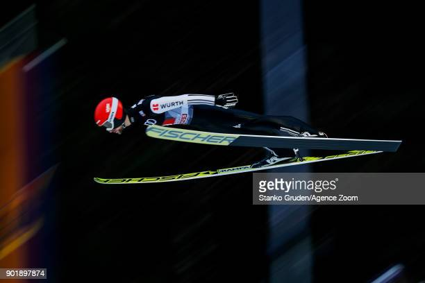 Anders Fannemel of Norway takes 3rd place during the FIS Nordic World Cup Four Hills Tournament on January 6 2018 in Bischofshofen Austria