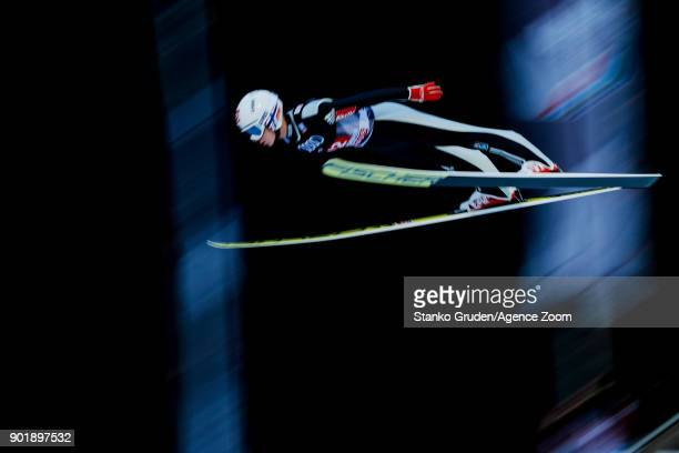 Anders Fannemel of Norway takes 3rd place in the overall standings during the FIS Nordic World Cup Four Hills Tournament on January 6 2018 in...