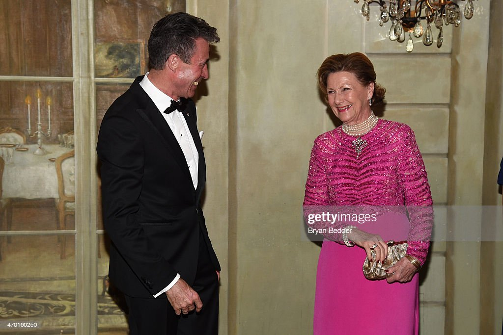 Anders Fogh Rasmussen and Queen Sonja of Norway attends the American-Scandinavian Foundation Gala Dinner at The Pierre Hotel on April 17, 2015 in New York City.