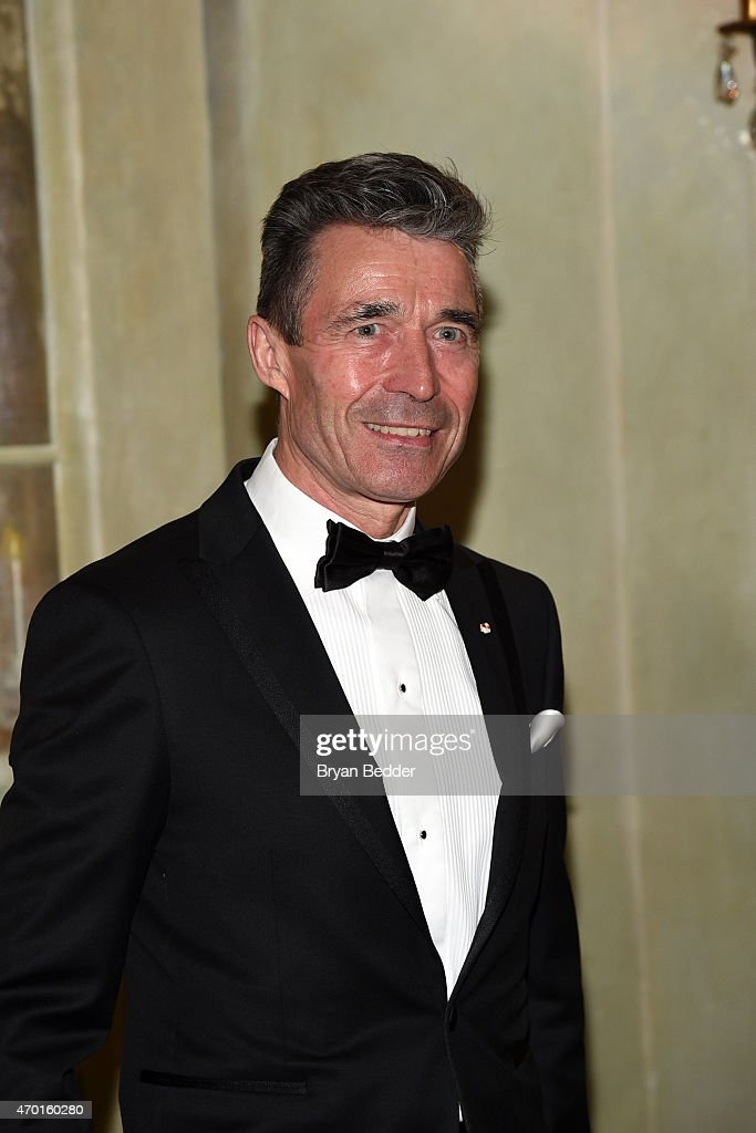 Anders Fogh Rasmussen attends the American-Scandinavian Foundation Gala Dinner at The Pierre Hotel on April 17, 2015 in New York City.