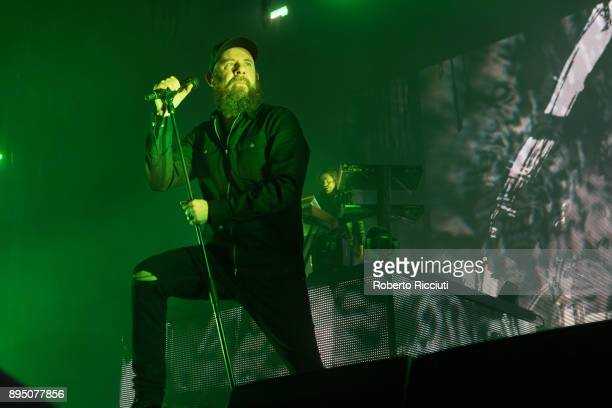 Anders Friden of In Flames performs live on stage at The SSE Hydro on December 18 2017 in Glasgow Scotland