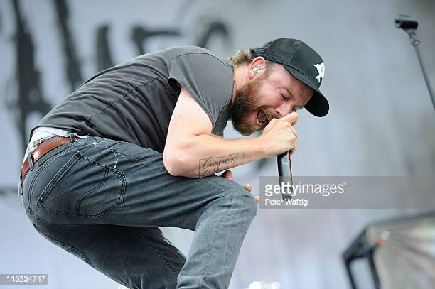 Anders Friden of In Flames performs on stage during the second day of Rock Am Ring on June 04 2011 in Nuerburg Germany