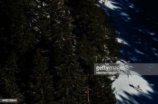 Anders Gloeersen of Norway leads the field during the Men's Cross Country Mass Start during the FIS Nordic World Ski Championships on March 5 2017 in...
