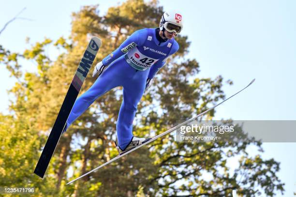 Anders Haare of Norway competes during the FIS Grand Prix Skijumping Hinzenbach at on February 6, 2021 in Eferding, Austria.