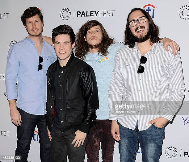 Anders Holm Adam DeVine Blake Anderson and Kyle Newacheck attend A Salute to Comedy Central at the 32nd annual PaleyFest at Dolby Theatre on March 7...