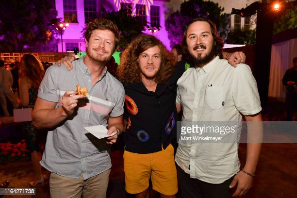 Anders Holm Blake Anderson and Kyle Newacheck attend the Los Angeles Premiere of New HBO Series The Righteous Gemstones at Paramount Studios on July...
