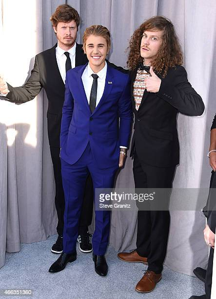 Anders Holm Justin Bieber Blake Anderson arrives at the Comedy Central Roast Of Justin Bieber on March 14 2015 in Los Angeles California
