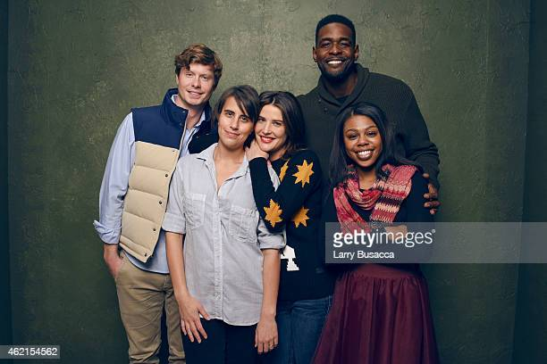 Anders Holm Kris Swanberg Cobie Smulders Chris Webber and Gail Bean of 'Unexpected' pose for a portrait at the Village at the Lift Presented by...